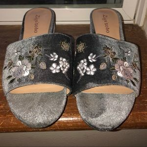 Floral low heels